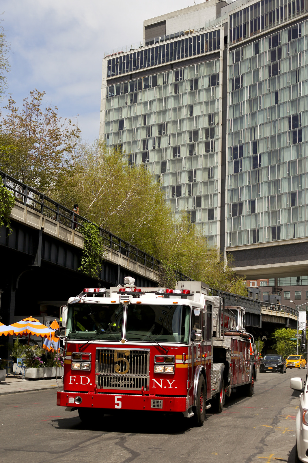 Fire-truck and the Standard Hotel