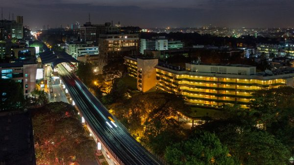 Bangalore city centre by night