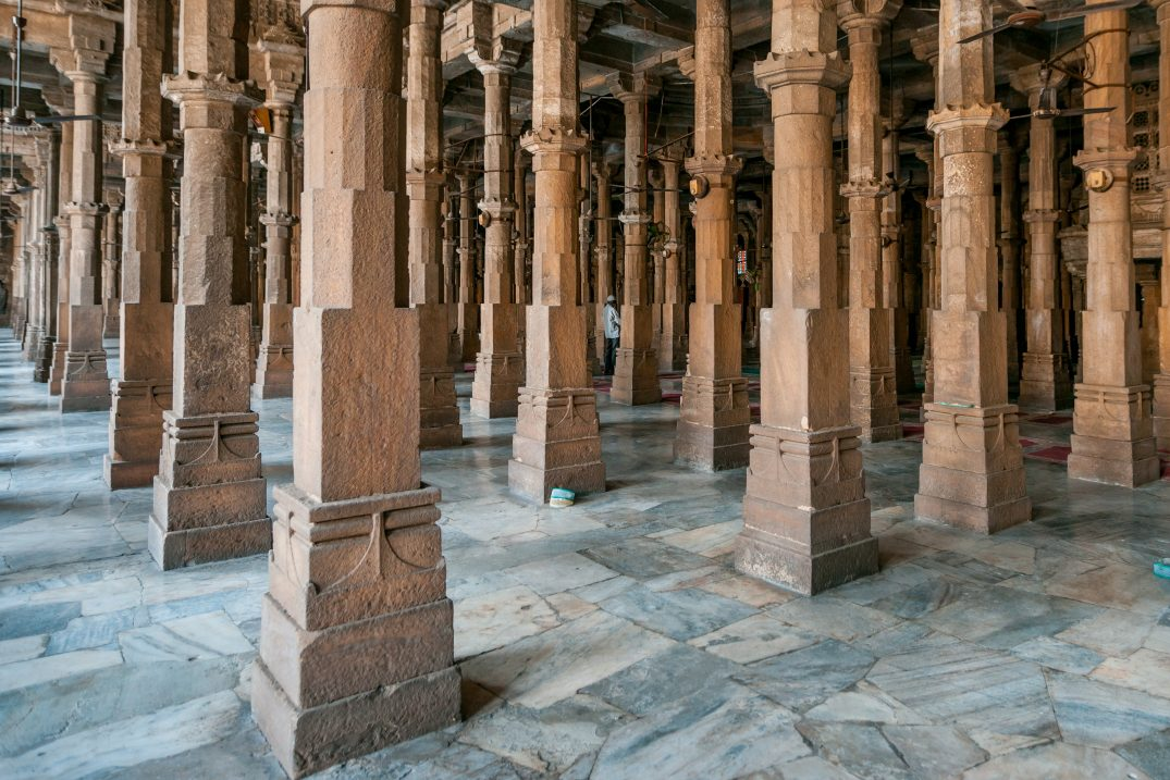 Jama Masjid Ahmedabad - pillars forest in the prayer room